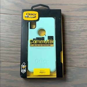 NIB iphone X OtterBox Commuter Phone Case - Blue